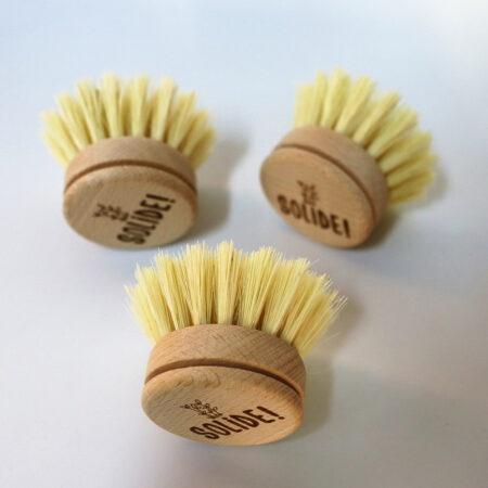 Recharge pour brosse à vaisselle zéro déchet en bois