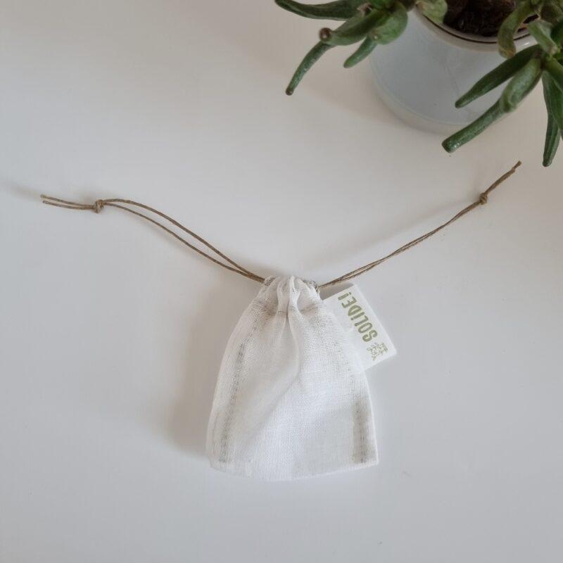 Filtre à thé réutilisable en tissu bio
